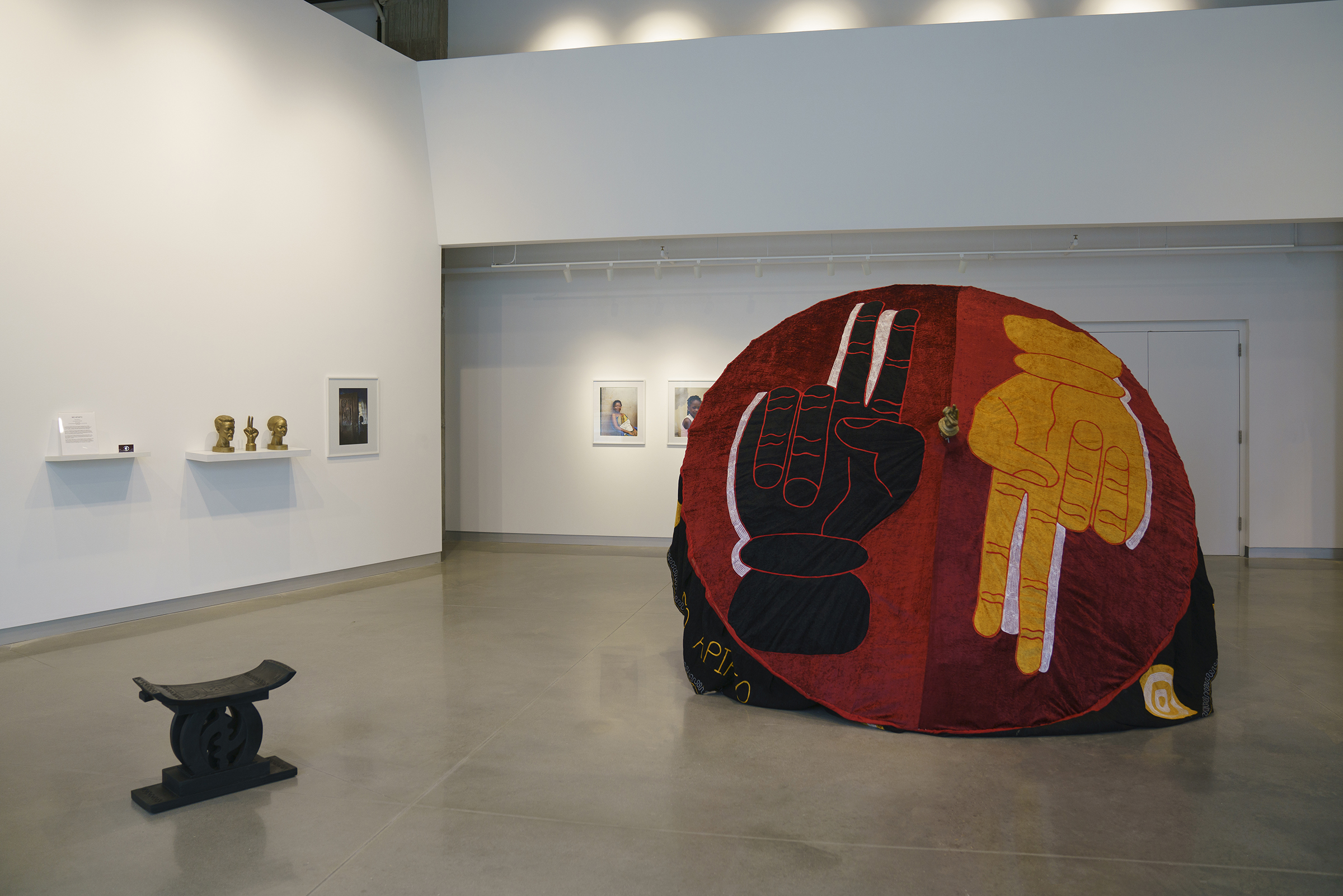 Installation view of Mo Apiafo by Rita Mawuena Benissan at the Arts + Literature Laboratory, photography by Ali Deane.