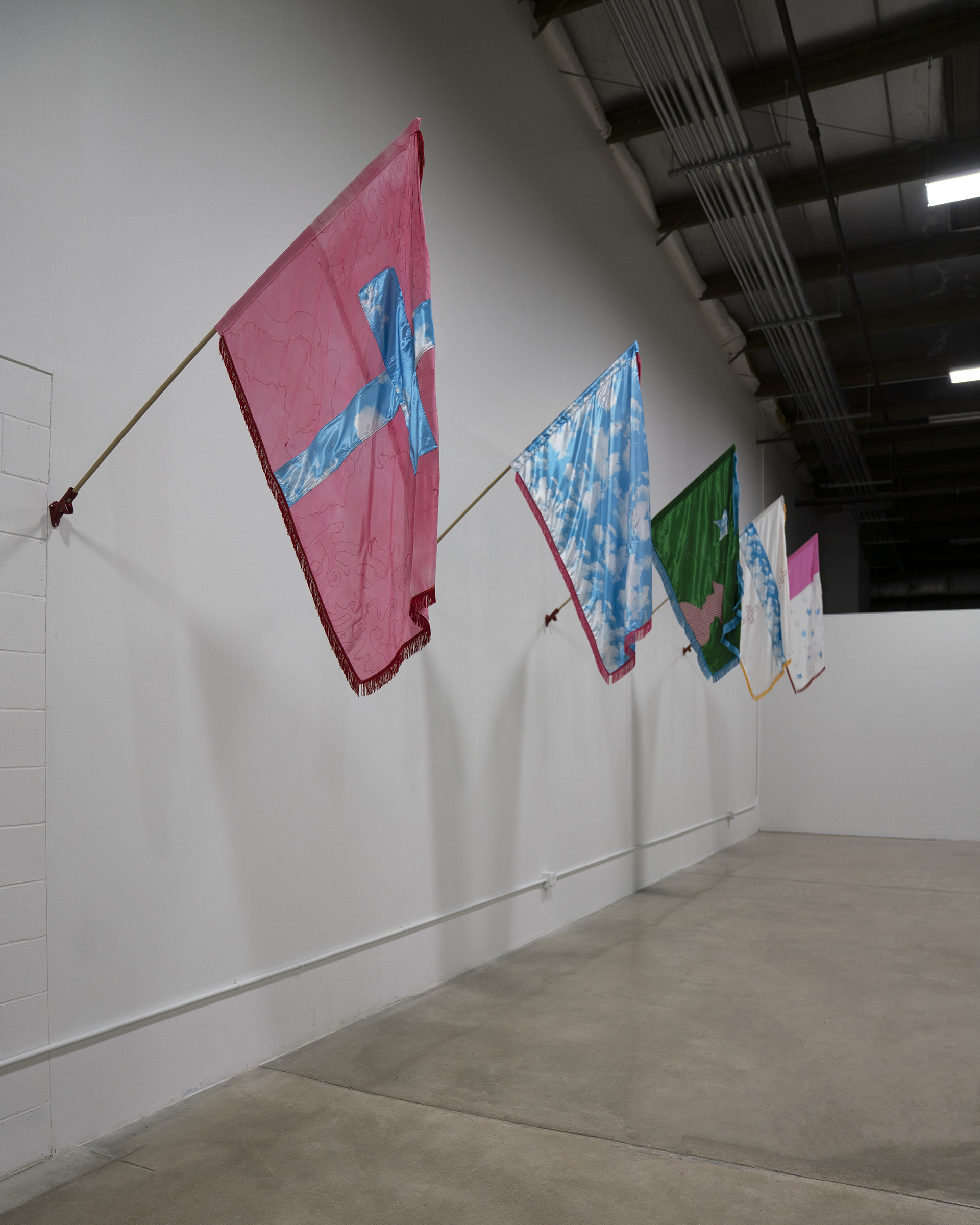 Installation view of For No Man's Land by Eva Gabriella Flynn at the Art Lofts Gallery, University of Wisconsin-Madison.
