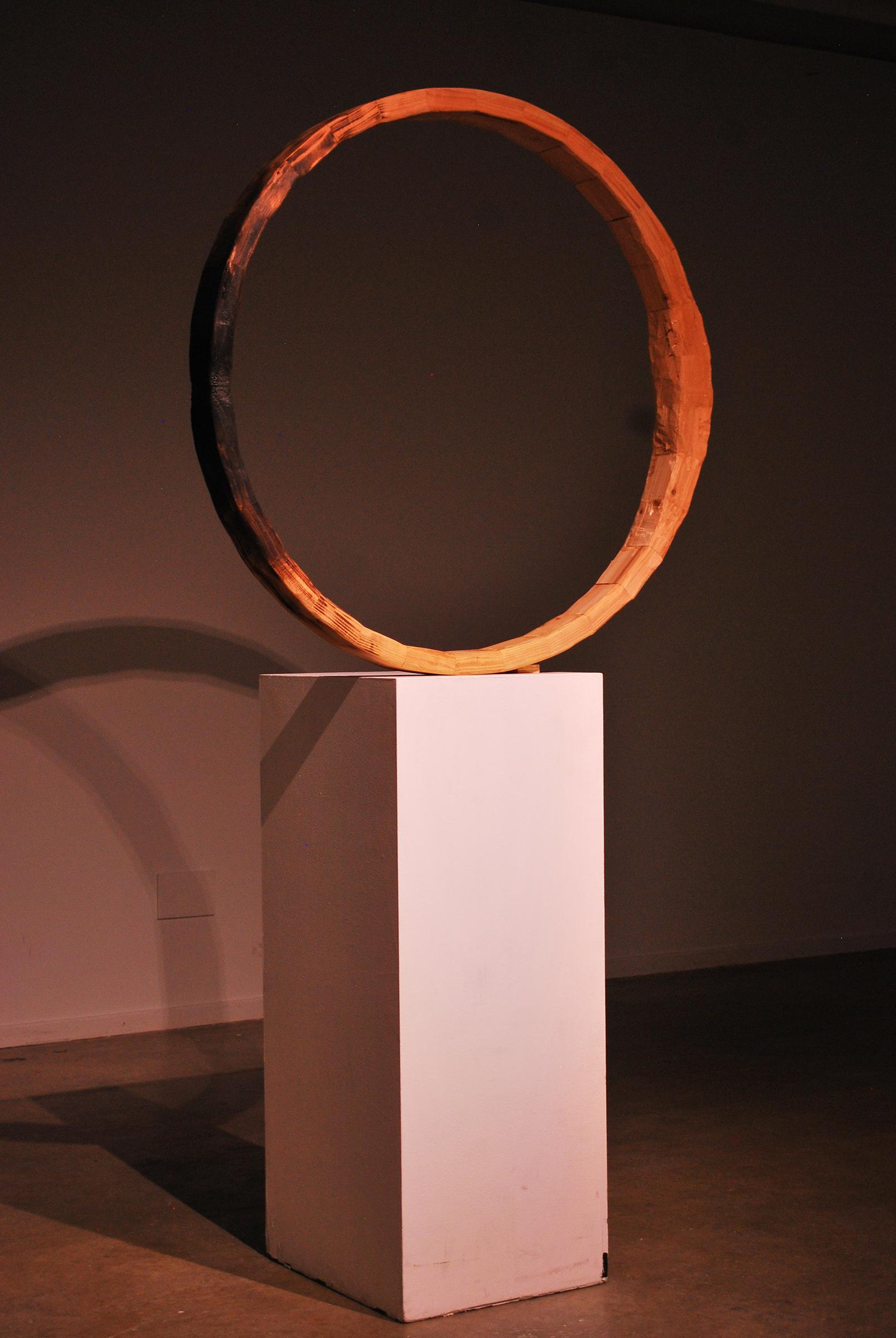 Diogenes III (ephemoral), wood sculpture by Nicholas Christensen.