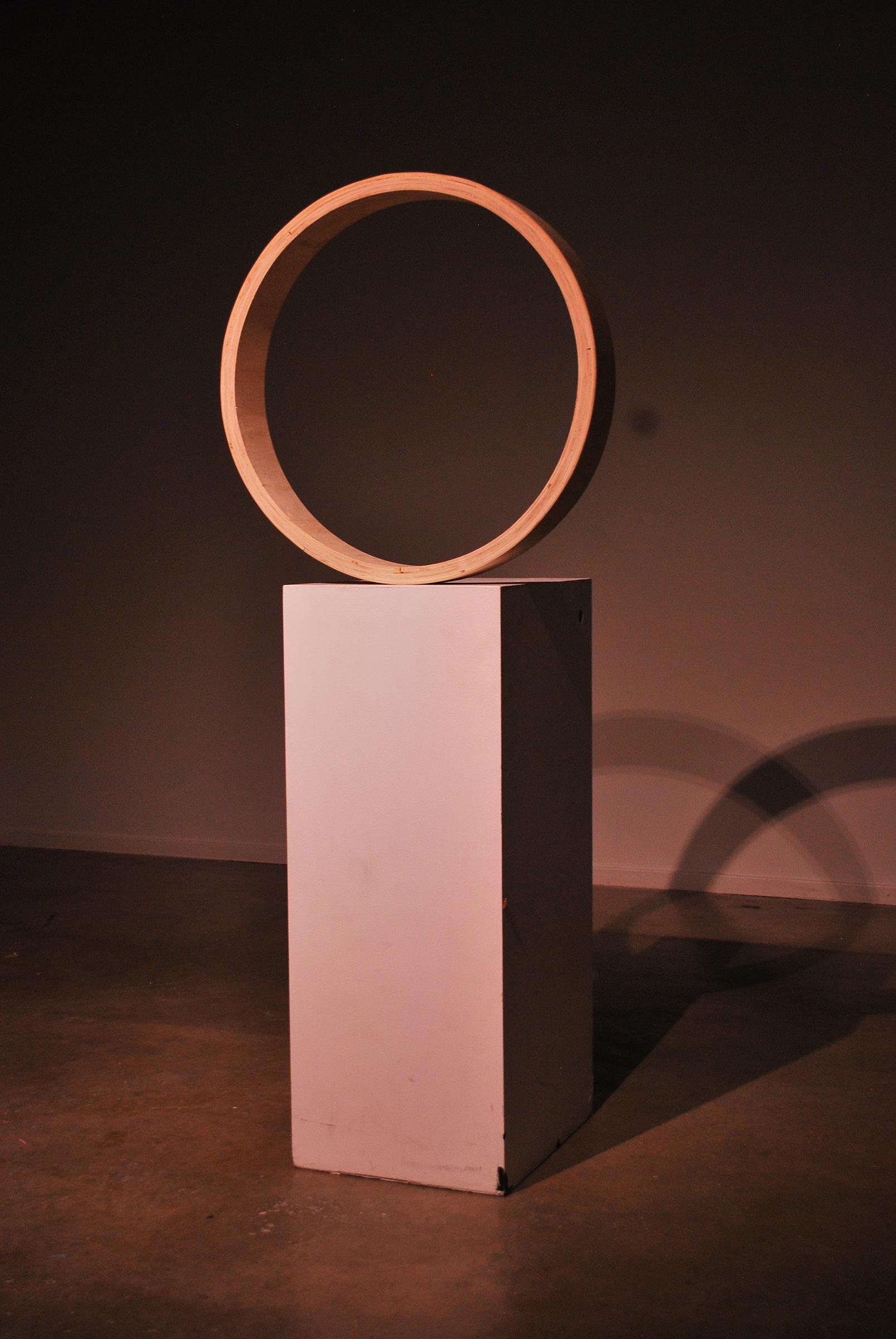 Diogenes IV (Compulsive), wood sculpture by Nicholas Christensen.