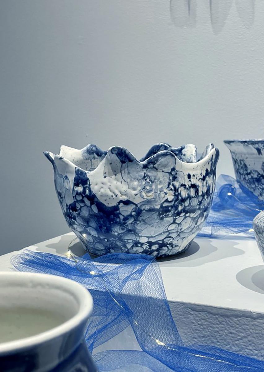 Thrown Vase glazed cone 6 stoneware by Kennedy McCarthy.