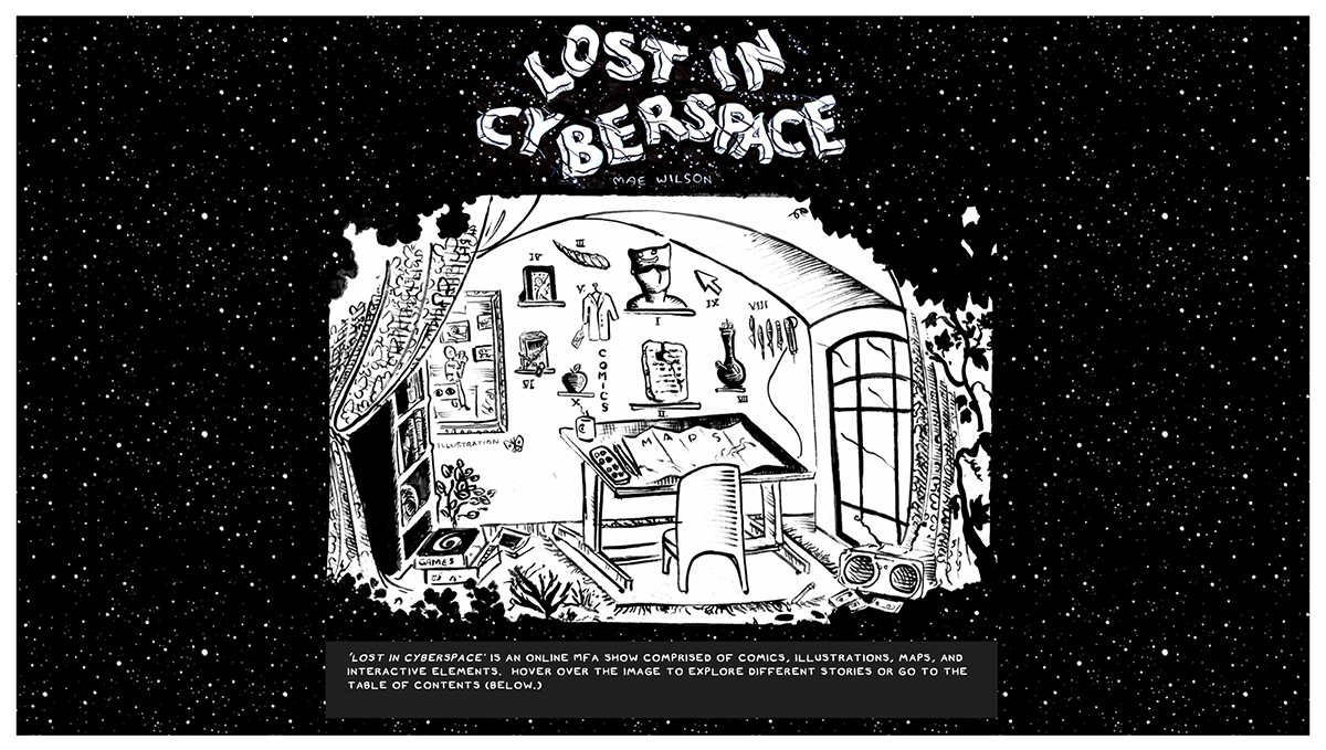 Lost in Cyberspace Master of Fine Arts Exhibition by Mae Wilson.