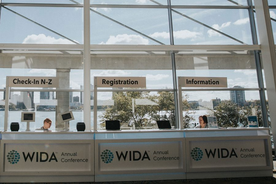 Conference and event welcome at WIDA conference