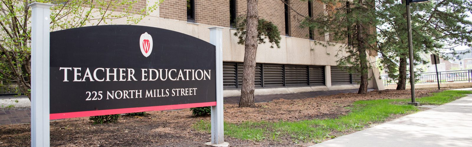Sign to Teacher Education Building