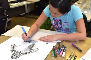 FauHaus student working on art