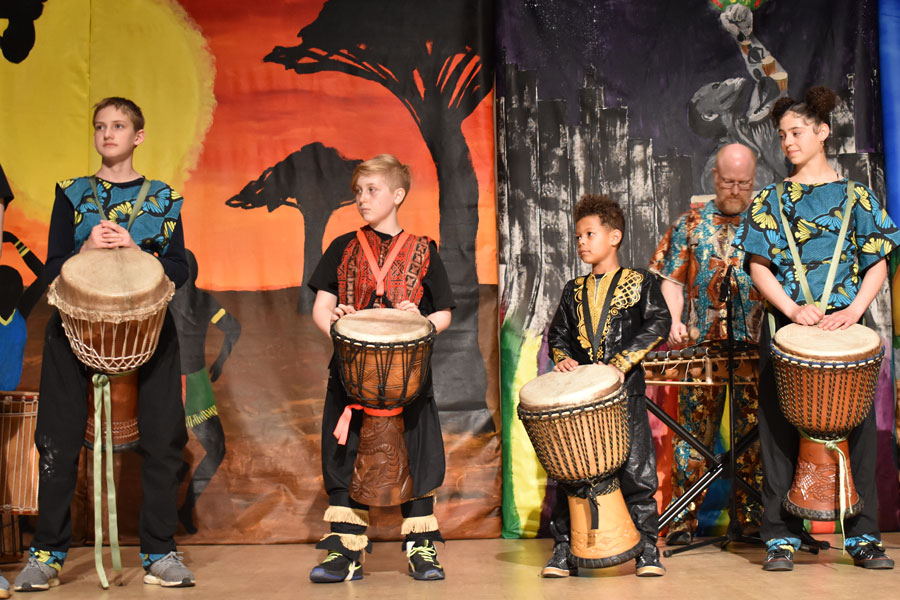 African night performance