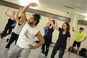 Duane Holland teaching a Hip Hop class