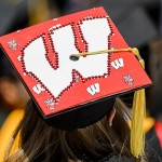 Wisconsin themed mortarboard.