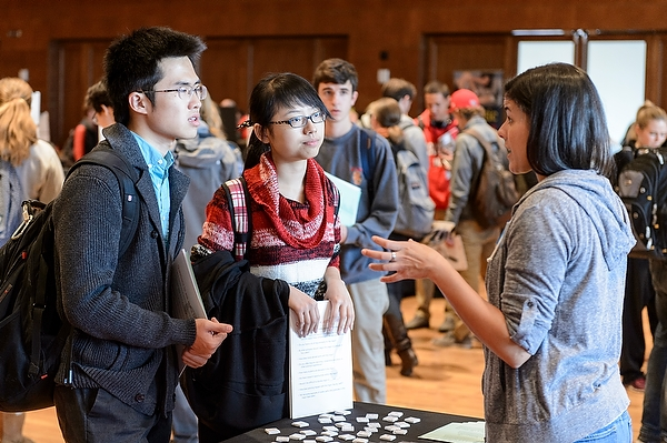 Undergraduates attend the UW Majors Fair in Union South's Varsity Hall at the University of Wisconsin-Madison.