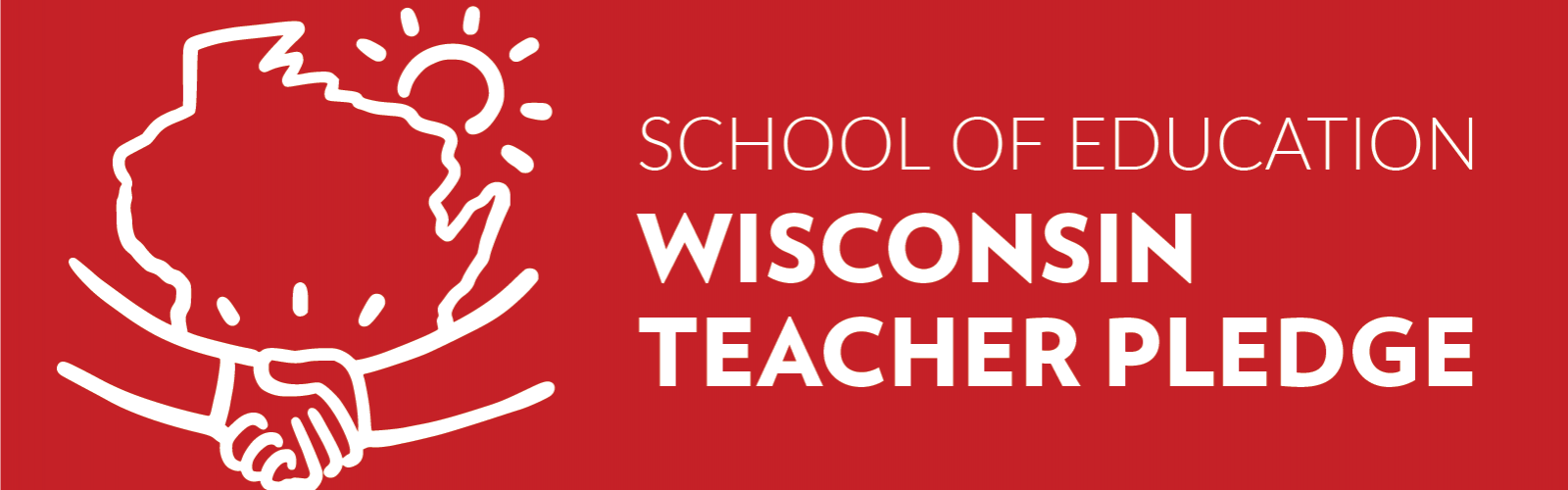 school of education wisconsin teacher pledge with shaking hands image